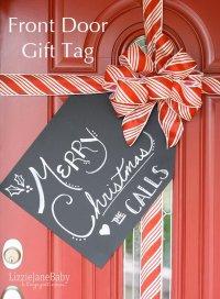20+ Creative DIY Christmas Door Decoration Ideas - Noted List