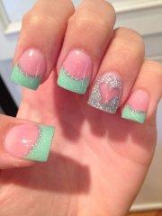 cute valentines nail design