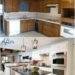 Kitchen Cabinet Makeover Kit Table Top Pretty Before And After Makeovers - Noted List