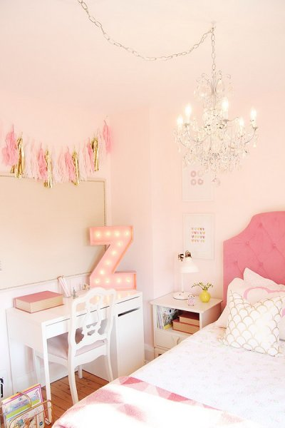 gold and pink girls bedroom ideas Cool Teenage Girl Bedroom Decorating Ideas - Noted List