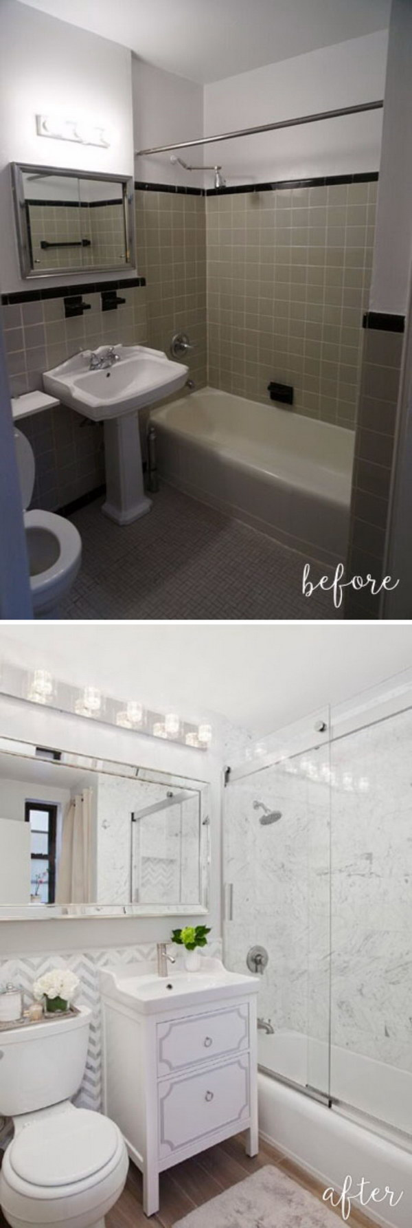 Before and After 20 Amazing Bathroom Makeovers  Noted List