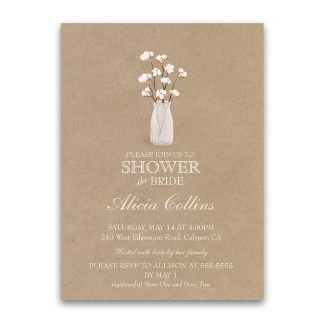 Bridal Shower Invitation Cotton Theme