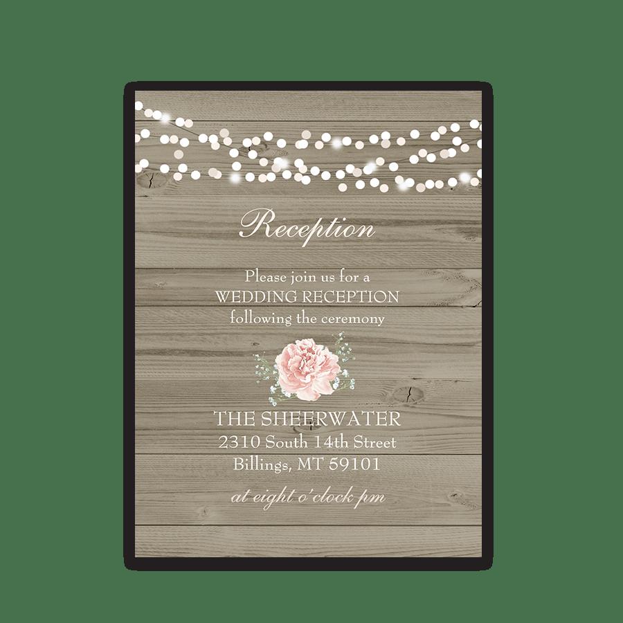 Rustic Wedding Invitations Rsvp