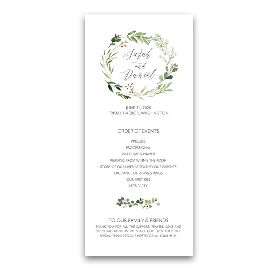 Greenery Wedding Invitations Geometric Gold Frame Eucalyptus