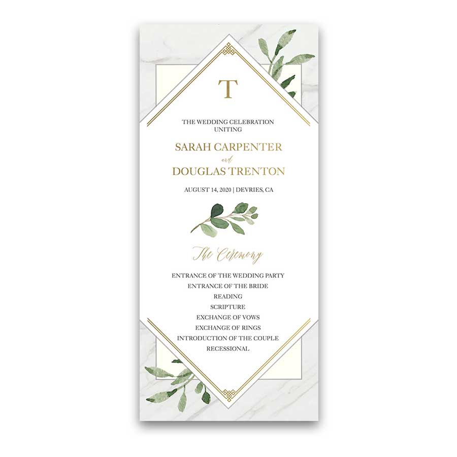 Favorite Snowflake Wedding Programs #YF41
