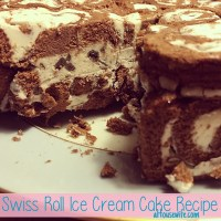 Swiss Roll Ice Cream Cake Recipe