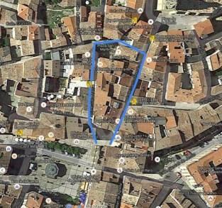 mapa de Haro destacando la forma de herradura de sus calles mas centricas
