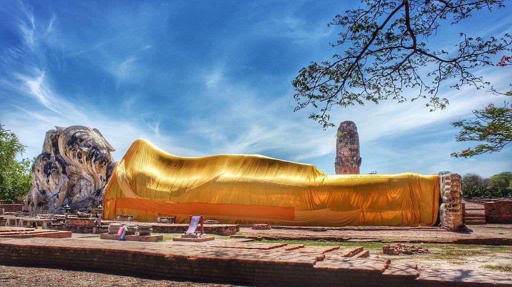 Buda reclinado Ayutthaya