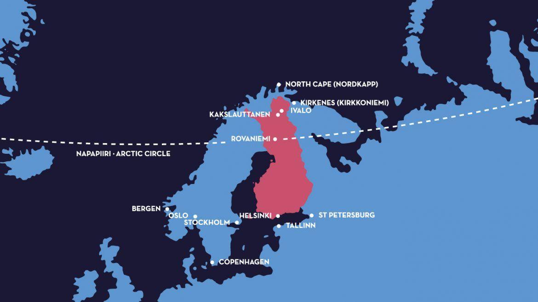 Mapa Kakslauttanen Artic Resort