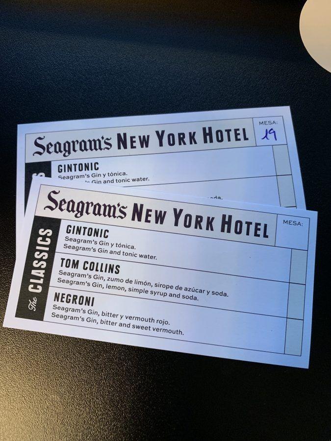 Seagrams NY Hotel 2019 cocteles
