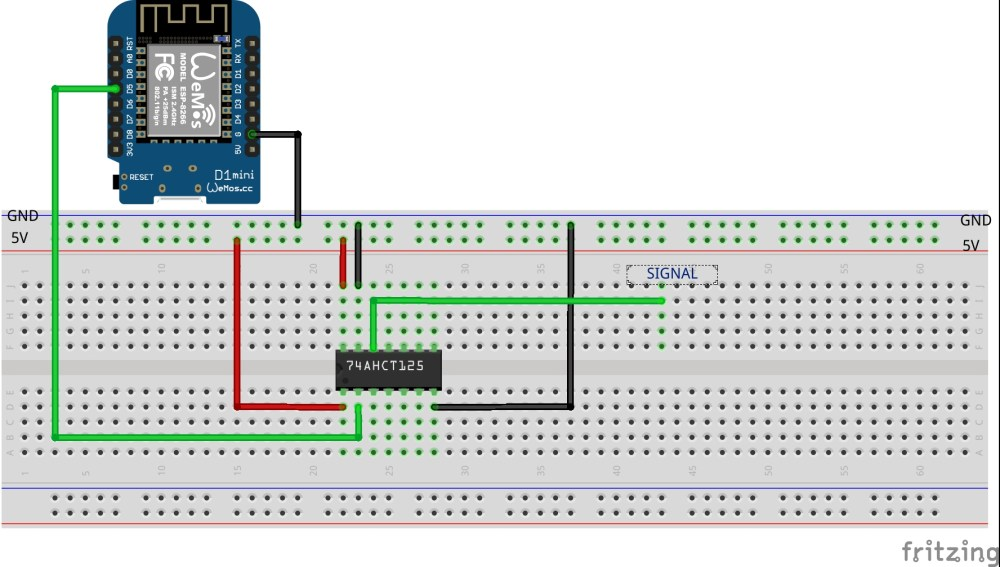 medium resolution of here is the schematic how you should connect the ic to drive rgb leds with esp32 esp8266 in my video i m driving 410 leds with a single esp32