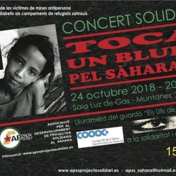 Toca un Blues pel Sahara lll Concert Solidari pels refugiats, 24 oct. Barcelona | ticketea