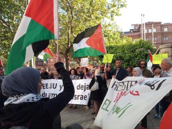 Manifestación propalestina en Madrid