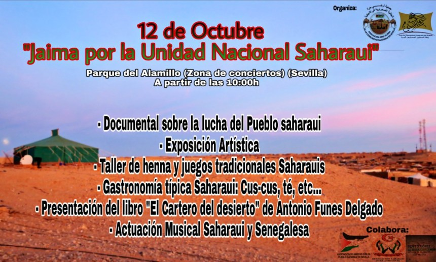 Sevilla 12 de octubre: Jaima por el día de la Unidad Nacional Saharaui
