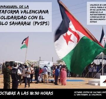 Valencia: Invitación Plataforma de solidaridad con el pueblo saharaui. – CEAS-Sahara