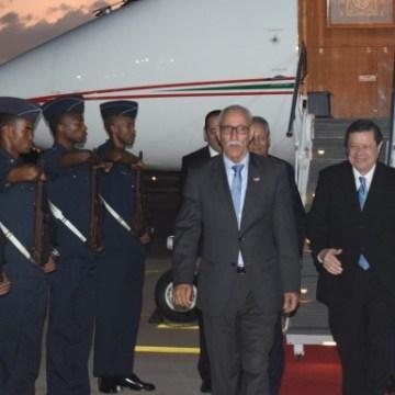 Arrivée du président de la République à Pretoria pour participer à la conférence de solidarité de la SADC avec le Sahara occidental | Sahara Press Service
