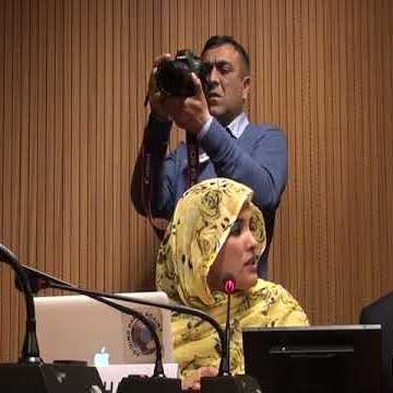 Participation of Sahrawi activist Najla MOHAMED in a side-event on the right to self-determination