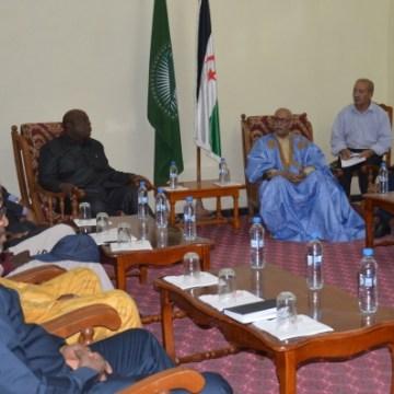 El Presidente de la República recibe una delegación del Comité de Servicios de Inteligencia y Seguridad en África | Sahara Press Service