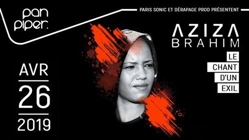Aziza Brahim sera en concert au @PanPiperLive à Paris le 26 avril