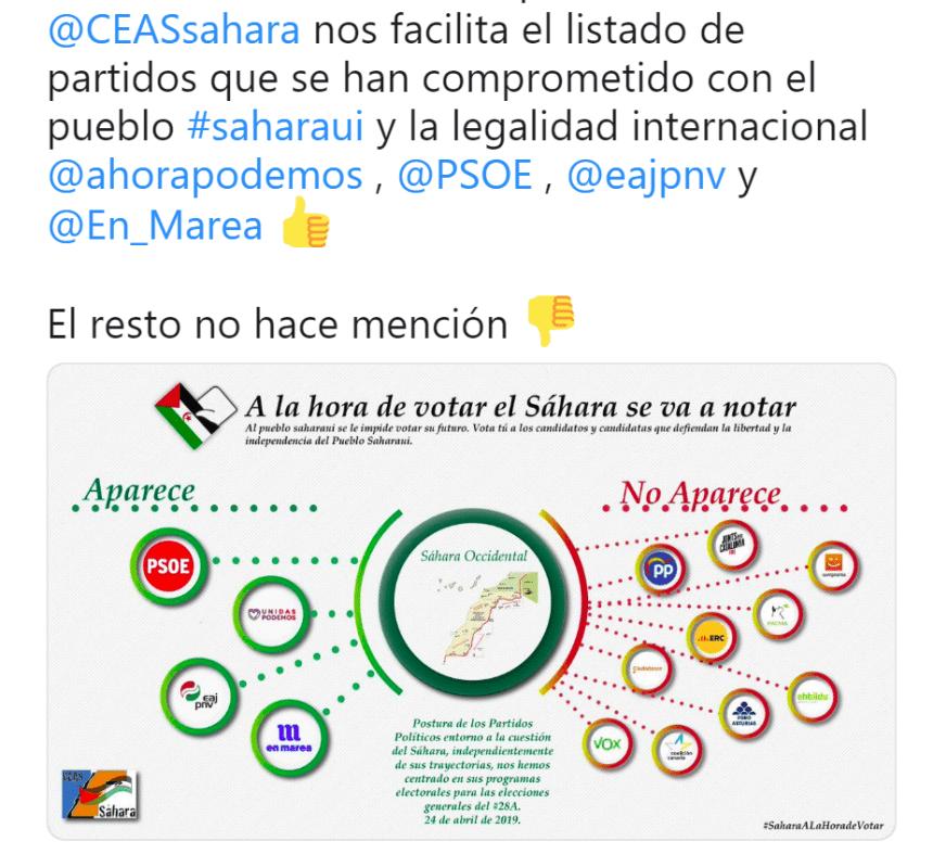 🇪🇭 La #ActualidadSaharaui HOY, 28 de abril de 2019 🇪🇭