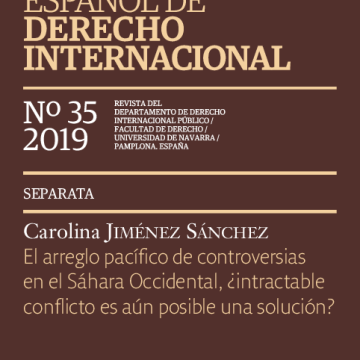 (PDF) El arreglo pacífico de controversias en el Sáhara Occidental: ¿intractable conflicto es aún posible una solución? | Carolina Jiménez – Academia.edu