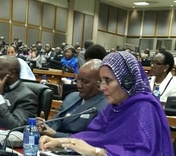Parlamentaria saharaui expone la situación de los refugiados saharauis ante el Parlamento Panafricano | Sahara Press Service