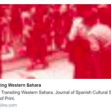 Transiting Western Sahara: Journal of Spanish Cultural Studies