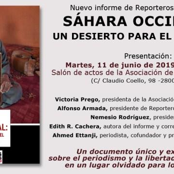 Reporteros Sin Fronteras presenta el informe 'Sáhara Occidental, un desierto para el periodismo' #DesiertoInformativo