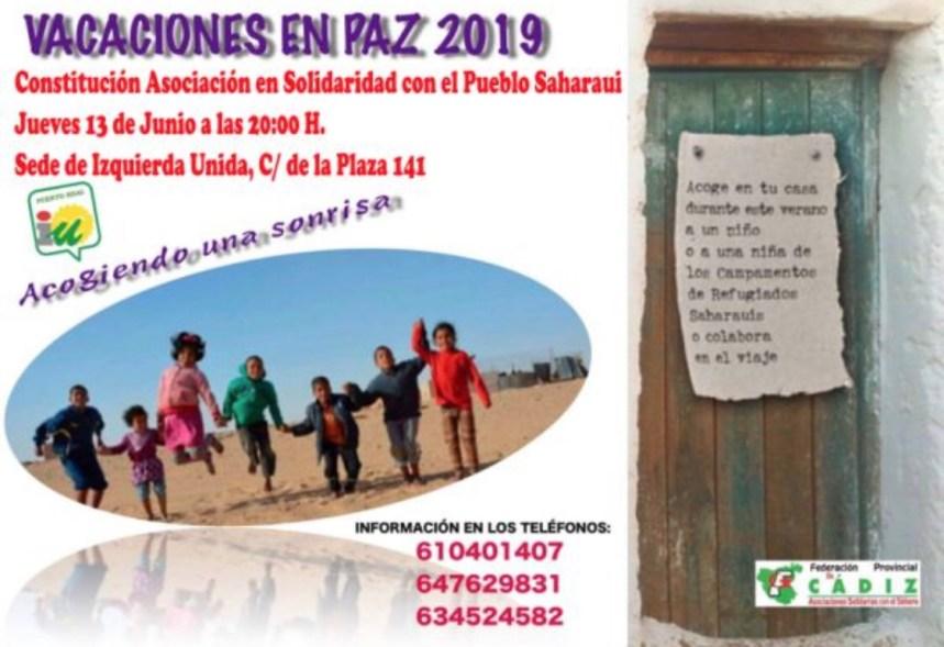 Mañana jueves se constituirá la Asociación de Amigos del Pueblo Saharaui de Puerto Real «Alsayf» | Puerto Real Hoy : Puerto Real Hoy