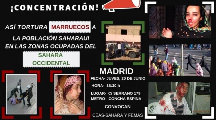 Convocan en Madrid manifestación por los derechos humanos en el Sahara Occidental ocupado | Sahara Press Service