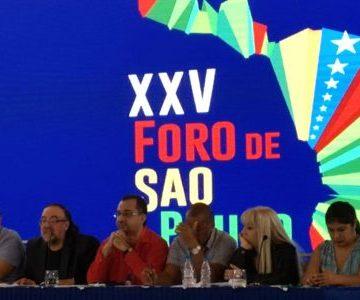 En Caracas: XXV Foro de Sao Paulo manifiesta su apoyo irrestritcto a la justa lucha del pueblo saharaui por su independencia nacional conducida por el Frente Polisario. | werken rojo