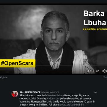 BARKA LBUALI ex-political prisoner | #OpenScars #HeridasAbiertas, desapariciones forzadas en el Sahara Occidental