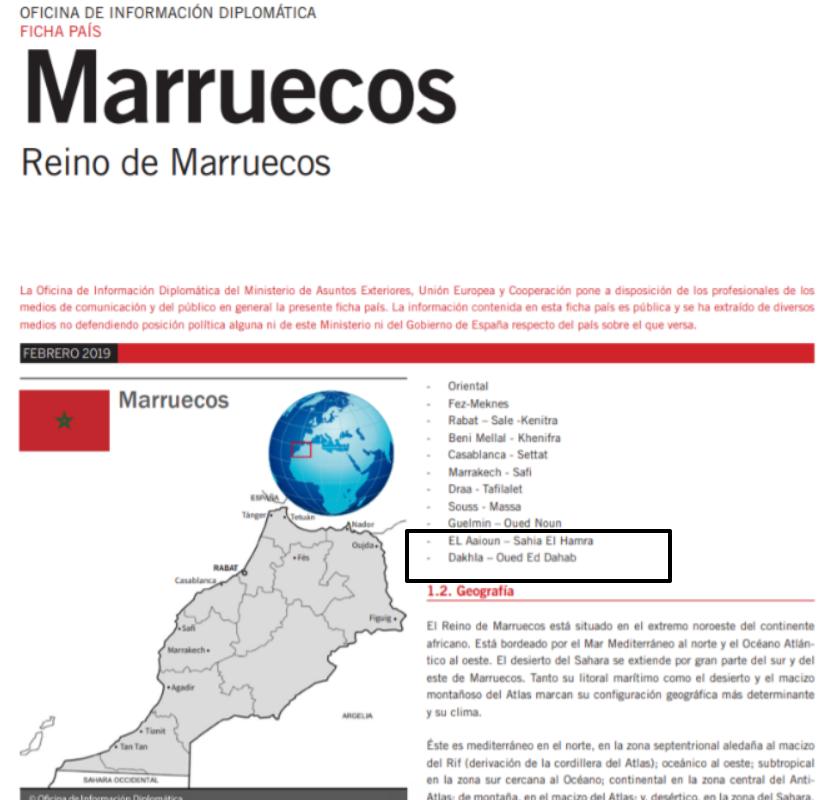 Principales Empresas españolas instaladas en Marruecos. Web del Ministerio de Exteriores español. #MásDeLoMismo