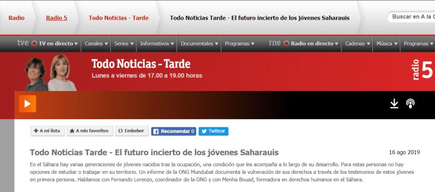 El futuro incierto de los jóvenes Saharauis – RNE