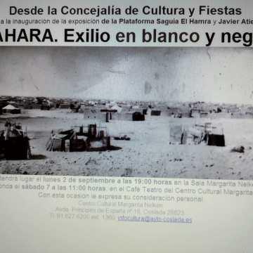 La exposición 'Sahara. Exilio en blanco y negro' muestra el día a día de los campamentos saharauis | ciudadanos | Portales públicos de Coslada
