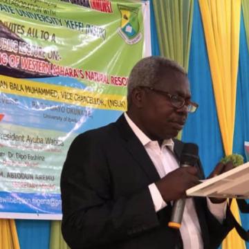 La Universidad de Nasarawa (Nigeria) promueve debate académico sobre el saqueo de los recursos naturales del Sáhara Occidental – ECS