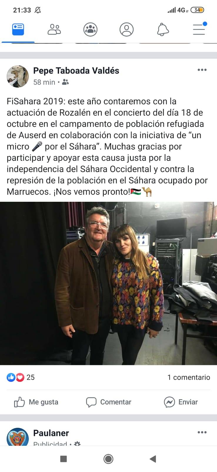 Rozalén confirma su presencia en FiSahara 2019 con la iniciativa de «un micro por el Sahara»