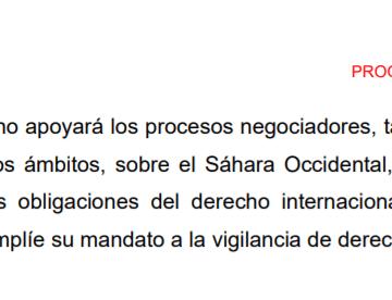 El PSOE dice que apoyará negociaciones sobre el Sáhara Occidental en la ONU y en otros ámbitos y que MINURSO vigile DDHH