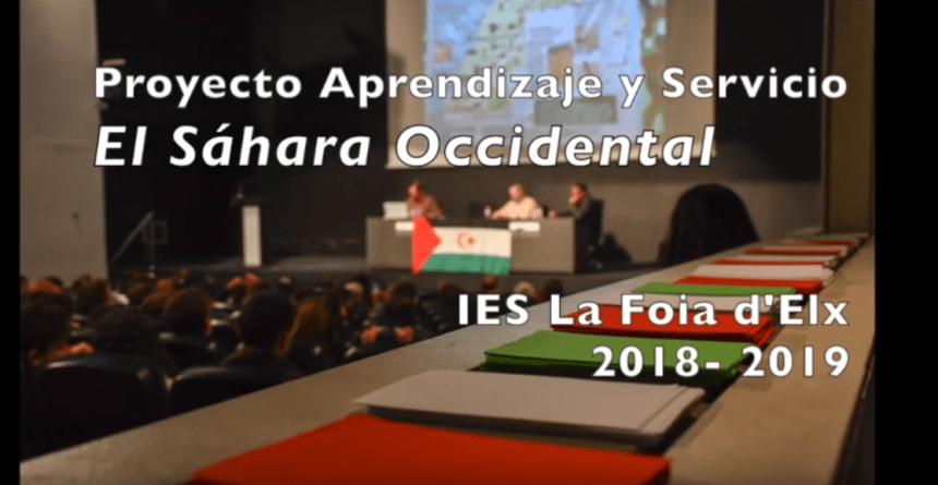 Projecte Sàhara – IES La Foia: Actividades realizadas dentro del proyecto «El Sáhara Occidental». Curso 2018- 2019
