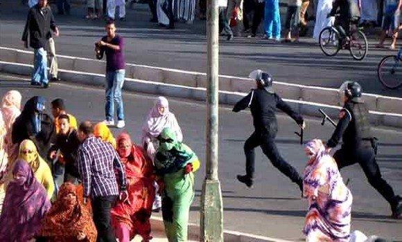 Répression brutale d'une manifestation pacifique des chômeurs sahraouis à El-Ayoun