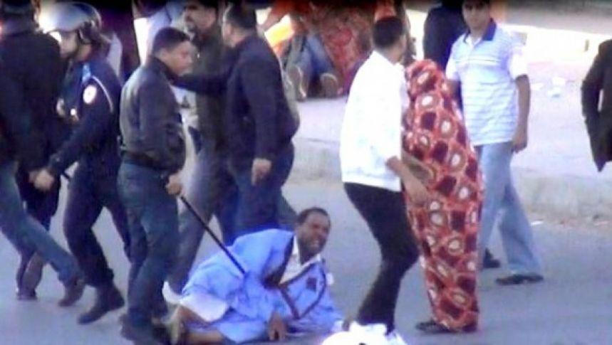 Répression brutale d'une manifestation pacifique des Sahraouis à El-Aaiun occupée | Sahara Press Service