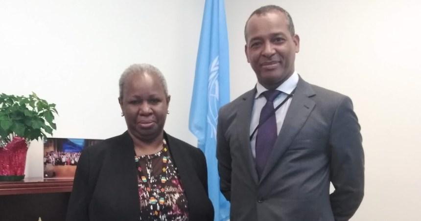El Representante del Frente Polisario ante la ONU se reúne con la asistente del Secretario General para África