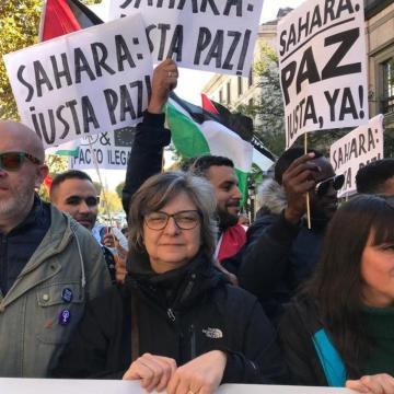 Un año más, CCOO participa en la manifestación de solidaridad con el Sáhara Occidental