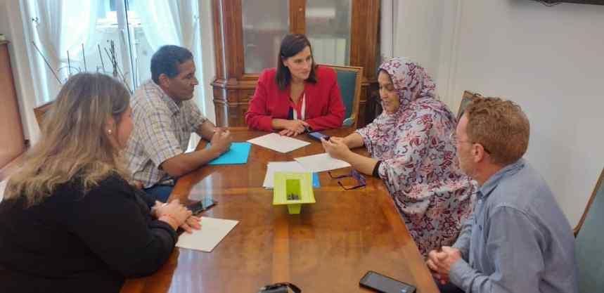 CANTABRIA: La Delegada en la región es recibida por la Alcaldesa de Santander   Sahara Press Service