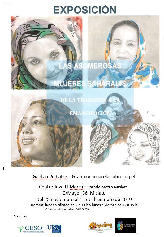 """""""Las asombrosas mujeres saharauis"""" Exposición de Gaëtan Pelhâtre – CEAS-Sahara"""