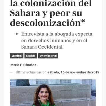 """Inés Miranda: """"Si España hizo mal la colonización del Sahara, hizo peor su descolonización"""""""