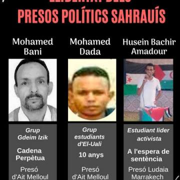 Campaña para exigir la liberación de Mohamed Bani, Mohamed Dada, Husein Bachir, presos políticos saharauis. – CEAS-Sahara
