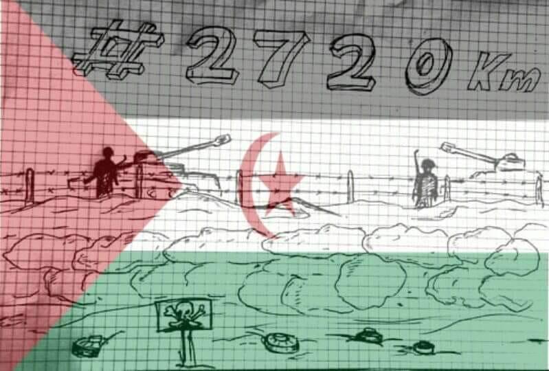 Me uno a la campaña #2720km contra el muro Marroquí en el Sáhara Occidental. ¿Y tú?