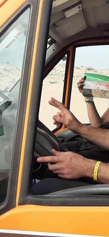 ECS en El Guerguerat: El Rally obedece, los camiones y los turismos del África Eco Race llevan la bandera saharaui en sus parabrisas