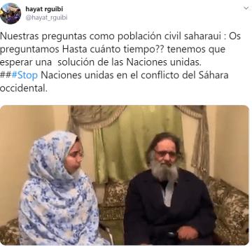 hayat rguibi @hayat_rguibi | Nuestras preguntas como población civil saharaui: ¿cuánto tiempo tenemos que esperar una  solución de las Naciones unidas en el conflicto del Sáhara occidental?